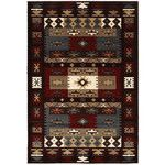 LR Resources Adana Burgundy Southwestern Area Rug & Reviews | Wayfair