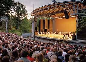 Théâtre de Verdure en été