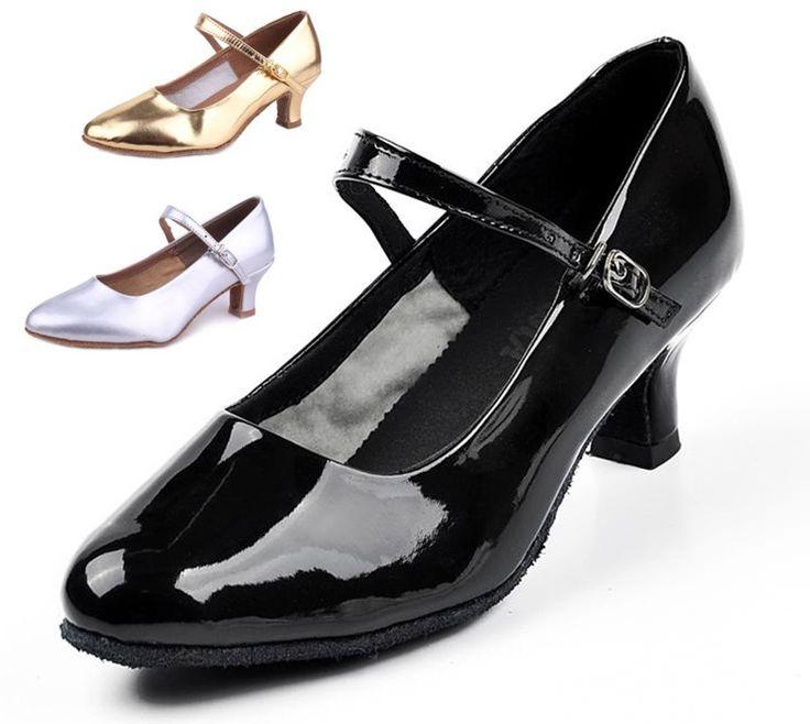 225 Высокое качество горячей продажи Brandnew женщин Современные Бальные Латинской Танго Танцевальная Обувь на каблуках Сальса черный серебро золото цвет