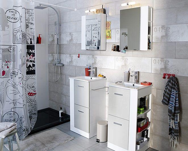 Salle de bains waneta castorama salle de bains - Rangement salle de bain castorama ...