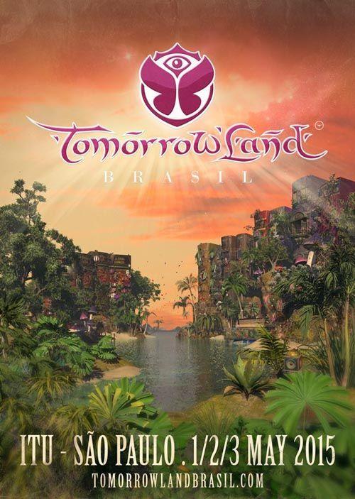 Tomorrowland 2005 (Boom, Bélgica). Cartel oficial de uno de los mejores festivales de música electrónica del mundo. Diseño gráfico, pósters, flyers de Fiestas y Festivales.