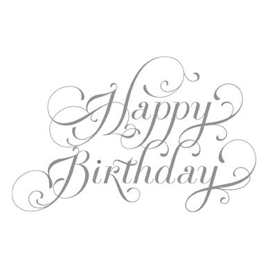Stampin' Up! Happy Birthday stamp.  Comes in Wood-Mount for $6.95 Love the script font of this sentiment.  Stamp is called 'Beautiful Birthday' and can be ordered in my online store.  Use item number:  125562