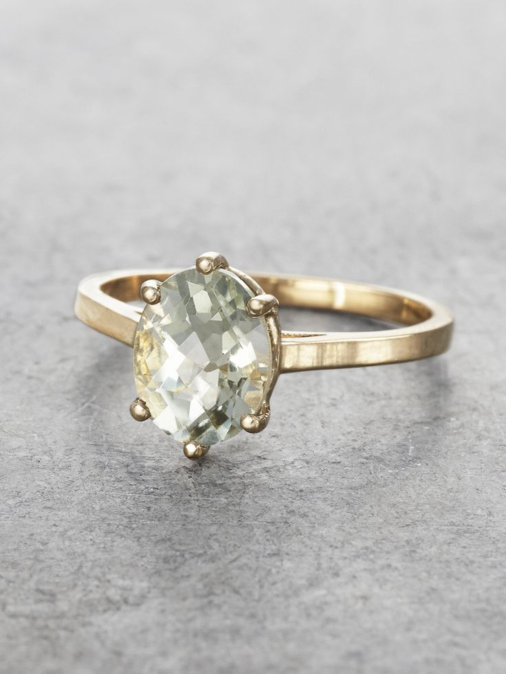 Beautiful Green Amethyst Maddie Ring