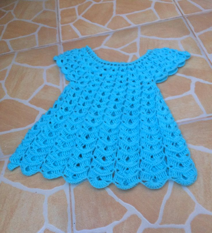 Crochet robe en relief magnifique 1 / Vestido en relieve tejido a crochet 1