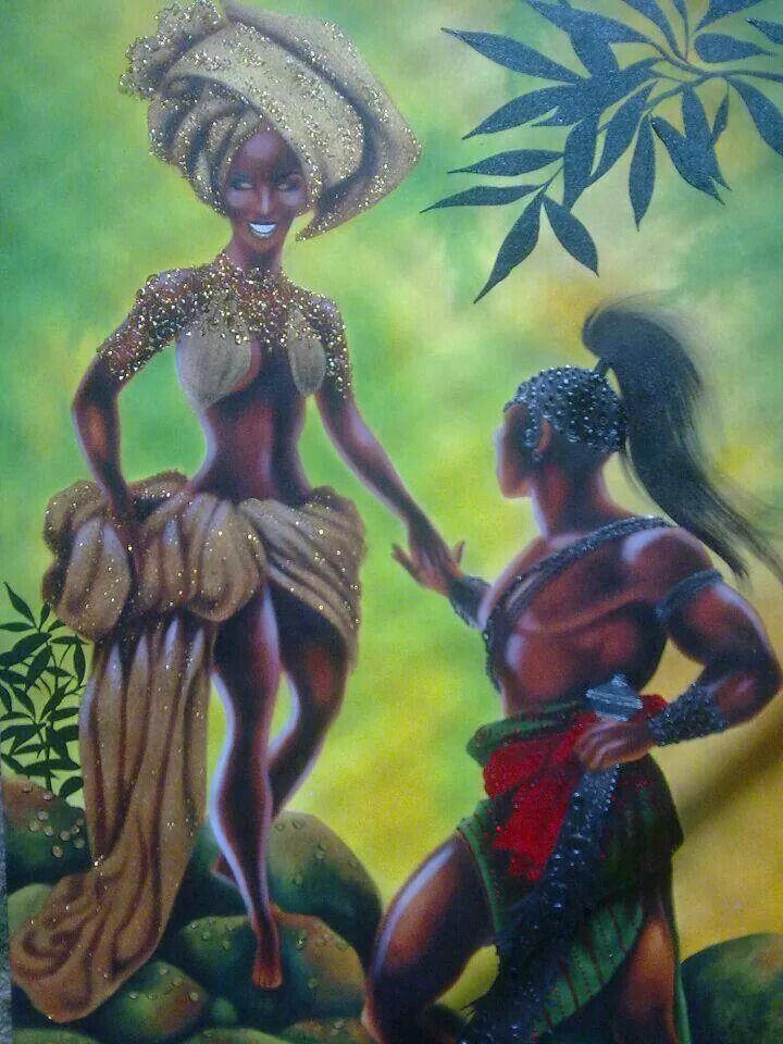 Baba Ogun and Yeye Oshun