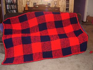 Dad Lumberjack Flannel :: free plaid crochet pattern!