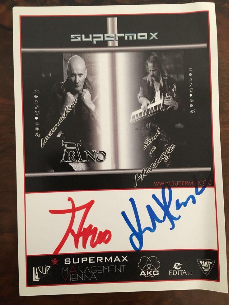 Arno Argos Raunig and Supermax, autographs