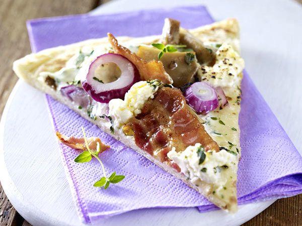 Schnelle Pizza - die besten Blitzrezepte - schnelle-pizza-austernpilz  Rezept
