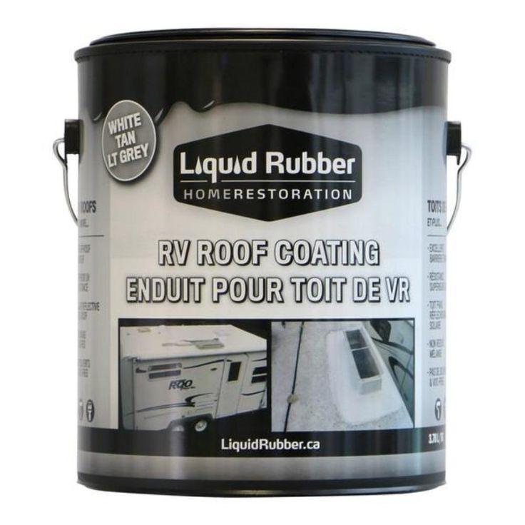 Liquid Rubber RV Roof Coating Roof coating, Cool roof
