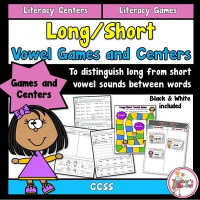 Long/Short Vowel Games and Centers