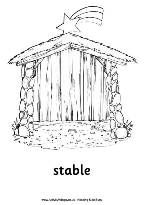 simple nativity coloring pages - photo#34