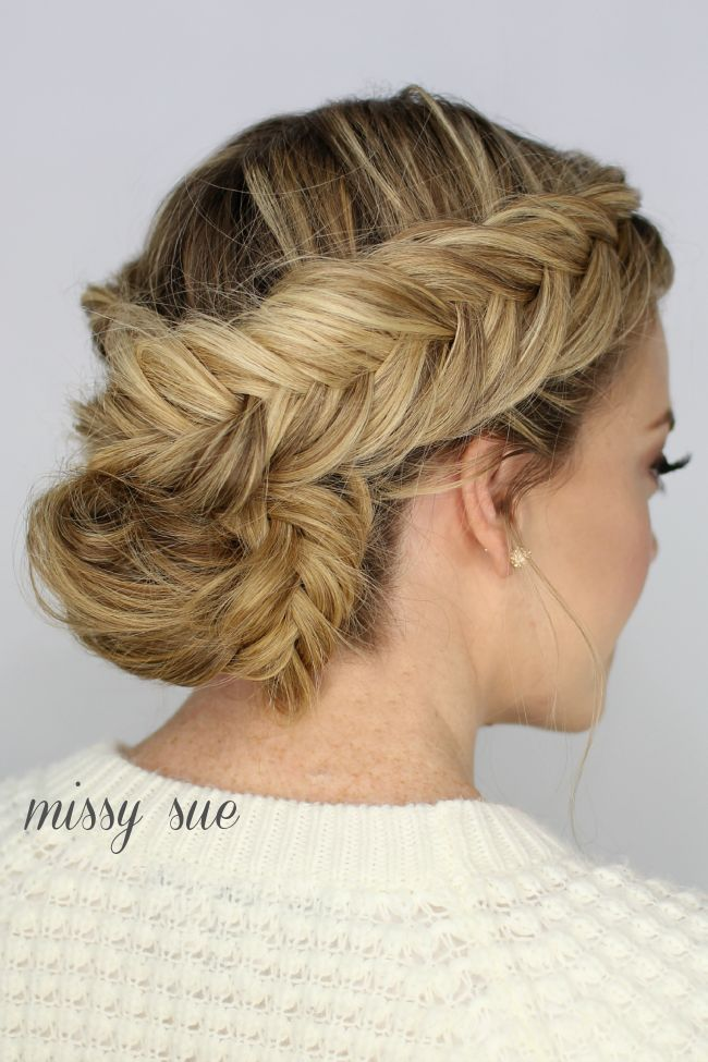 It's safe to say I have a slight obsession with dutch fishtail braids. The Fishtail Braided Updo...
