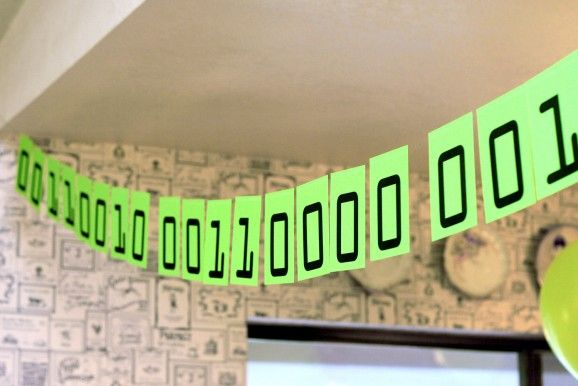 The computer geek in me loves this geek themed graduation party from @The Land of Nod