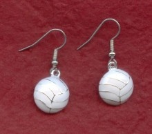 Netball earrings....just don't wear them on the court!