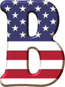 Alfabeto con la Bandera de USA