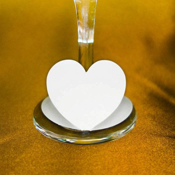 20 Heart wine glass tag name place card for by Catatatatatat