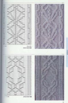 вязание спицами араны узоры