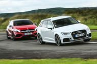 Britain's best affordable driver's car: Audi RS3 versus Mercedes-AMG A45  The Audi RS3 and Mercedes-AMG A45 battle it out  It's a mega-hatch grudge match between the Mercedes-AMG A45 4Matic and the Audi RS3 - which of these two delinquents will come out on top?  I get the sense that these two cant quite leave each other alone like two playground rivals who bitch and scrap but secretly rather love each other only dare not admit it.  Mercedes-AMGs first foray into transverse-engined…