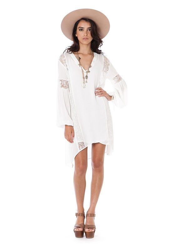 Mellow Ivory Tunic Dress by The Wallflower