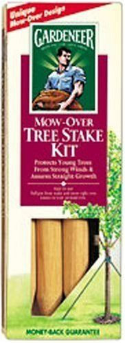 "Dalen TSD12 Mow Over Tree Stake Kit by Dalen. $9.00. This product does allow trees to sway in the wind, but they will hold tight during a storm.. Protects young trees from wind and storm damage and assures straight tree growth. Usage ideas: Newly-planted trees, young trees. The kit contains a patented non slipping, non girdling collar that attaches to the trees central truck. Exclusive ""Mow-Over"" design means easy mowing and no trimming around stakes. Contains everythin..."