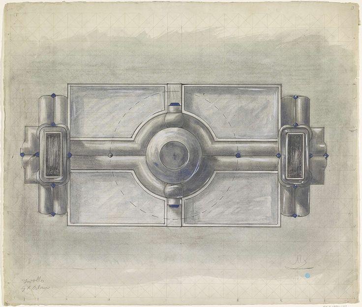 Mathieu Lauweriks | Ontwerp voor een zilveren tafelstuk, Mathieu Lauweriks, 1874 - 1932 |