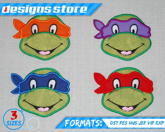Hey, I found this really awesome Etsy listing at https://www.etsy.com/listing/245069132/ninja-turtle-face-applique