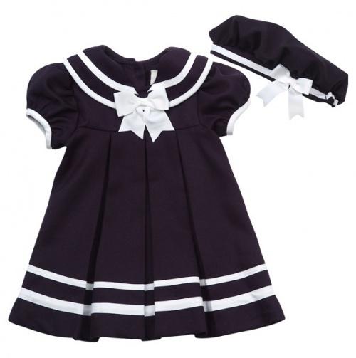 Infant Sailor Dress and Beret