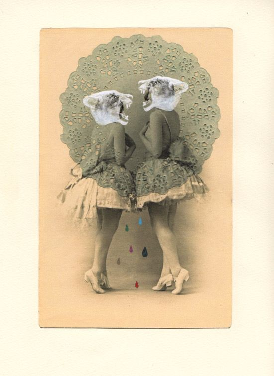 Rhed Fawell 'Masks' 2015 - Collage