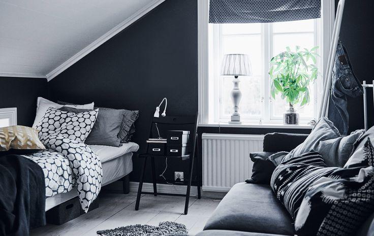 Särmikäs ja käytännöllinen huone mu-va