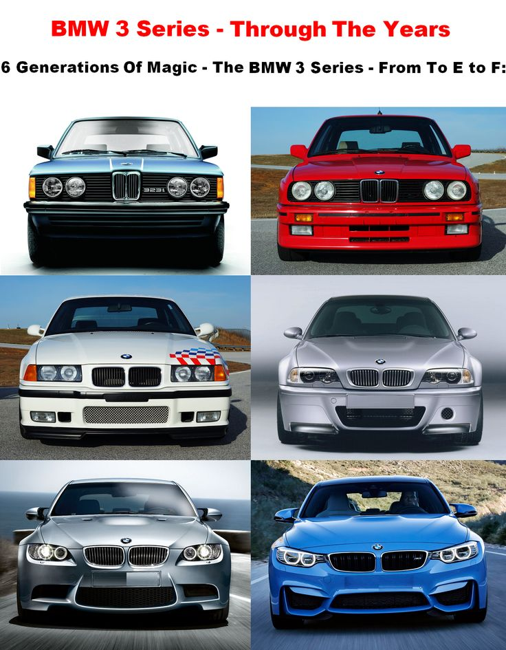 Experience The BMW 3 Series Through The Years - 6 Generations Of Total Magic - From To E to F: Visit our website to learn about the rich history of the BMW 3 Series compact executive luxury sports cars. http://www.ruelspot.com/bmw/bmw-3-series-the-history-of-a-true-legend/ #BMW3Series #BMW #BMW3SeriesHistory