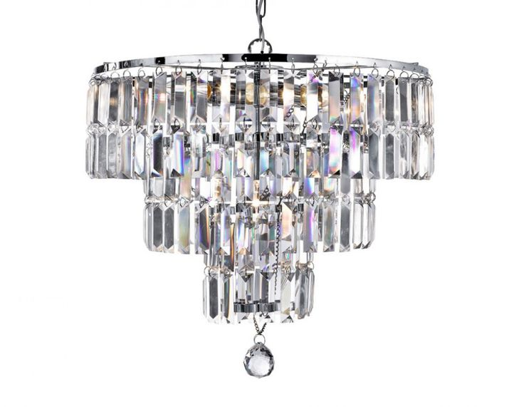 Searchlight 1375-5CC Empire 5 light chrome fitting with crystal drops
