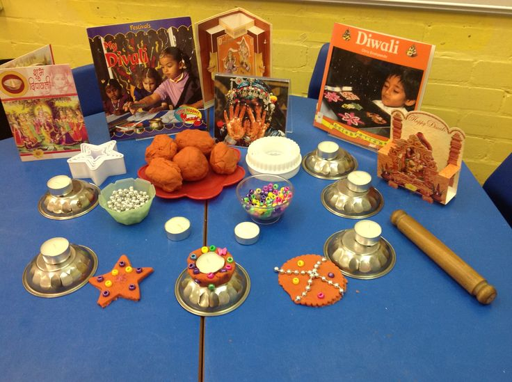 Divali Dough ... red dough flavoured with cinnamon ... we made Diva lamps and rangoli patterns too!