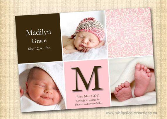 15 best Birth Announcement images – Birth Announcement Pinterest