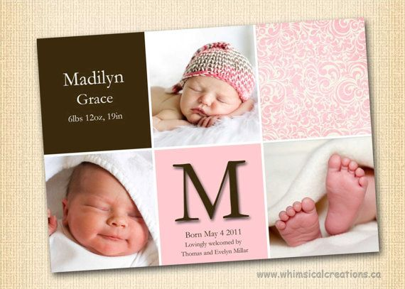 10 Best images about Baby girl birth announcements – Pinterest Birth Announcement