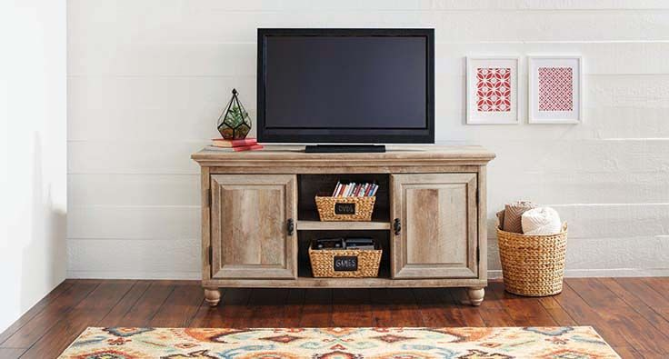 Better homes and gardens crossmill collection tv stand for Better homes gardens tv