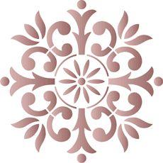 Litet ornament 44. Set om 4 st. • stencil till konstverk. Grossist av stenciler. •