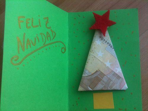 idea regalar dinero en Navidad