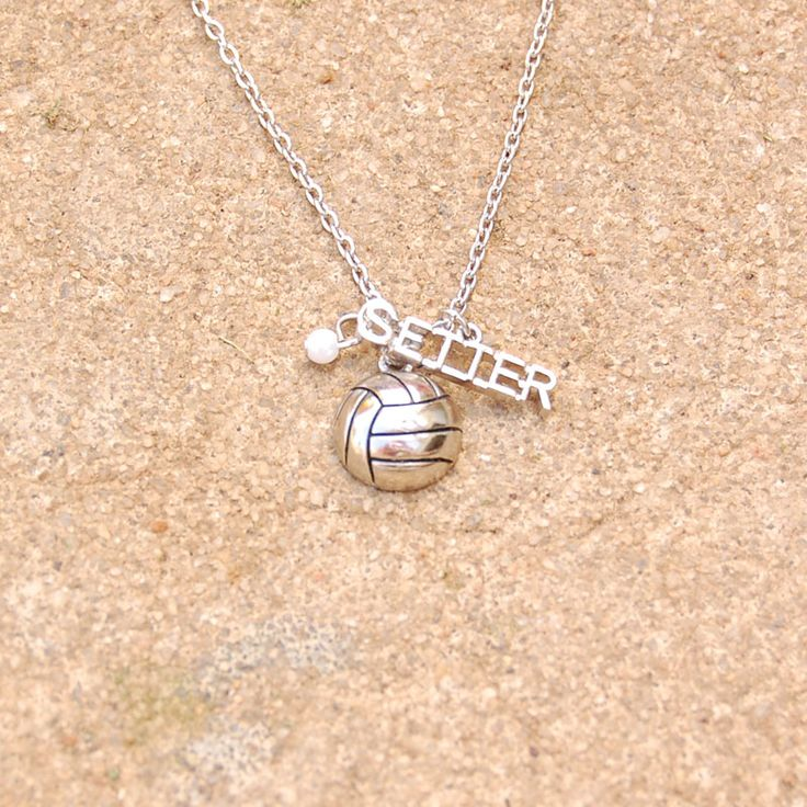 Volleyball+Setter+Silver+Necklace                                                                                                                                                     More