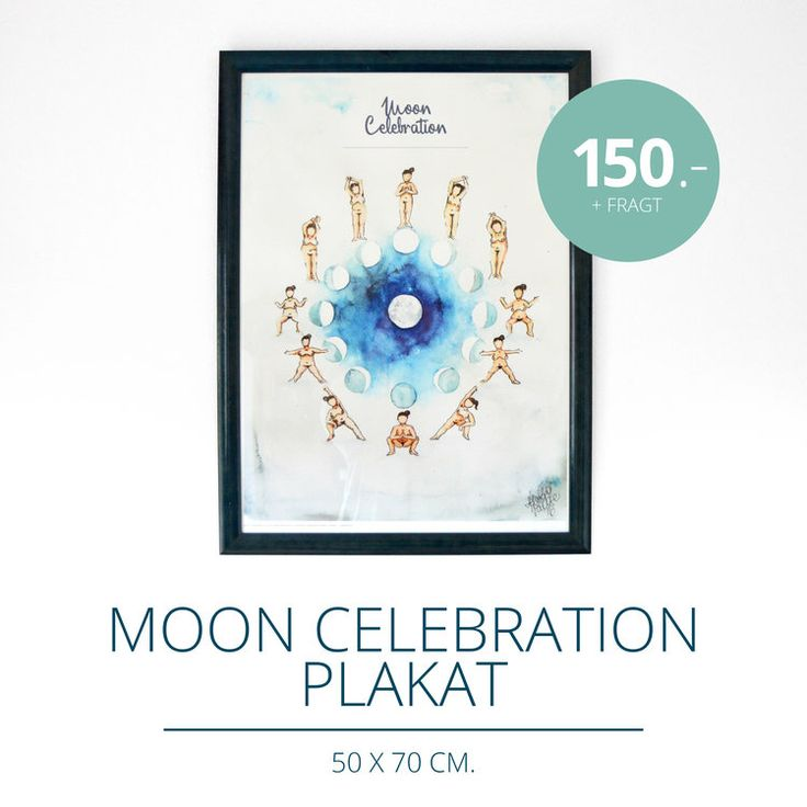 Moon Celeoration Poster by Kreativeomgivelser.dk