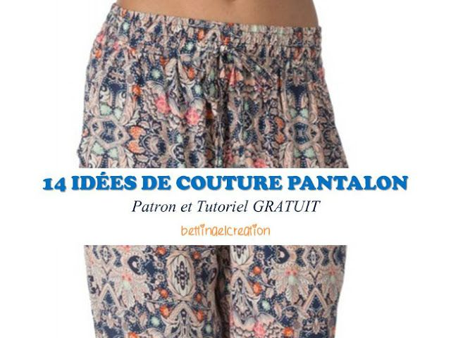 FREE: les 14 meilleures idées couture pantalon femme Bettinael.Passion.Couture.Made in france