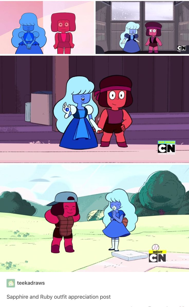 WAIT SAPPHIRE'S OUTFIT CHANGES FROM WHEN WE FIRST SEE HER. WHAT HAPPENED
