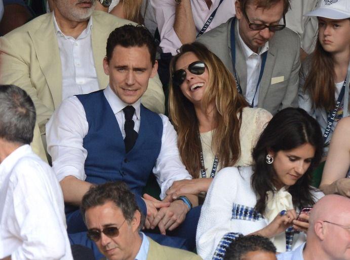 later - jacket off Tom & Jane Arthy - watching tennis