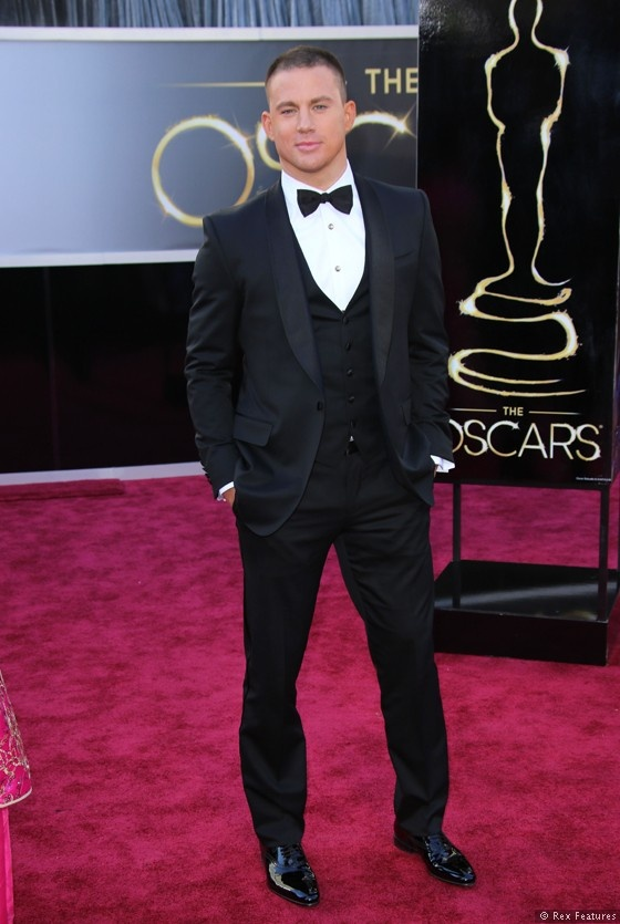 Channing Tatum at  the 2013 Academy Awards (source: Sky Living)
