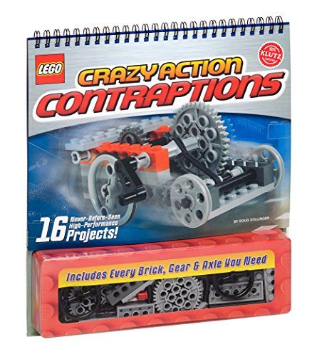Includes every brick, gear & axle you need to create 16 unique projects Comes with 105 LEGO bricks Includes a 50 page instructional book with Klutz certified crystal-clear instructions