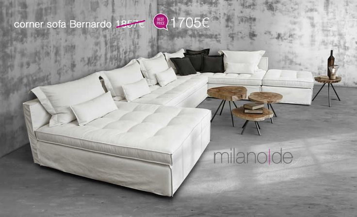 New ethnic design και κυκλαδίτικες πινελιές, συνθέτουν το απόλυτο must για το καθιστικό σας. Ανανεώστε τον χώρο σας με το καναπέ Bernardo, συνδυάζοντας την ευελιξία με την άνεση. Διάσταση γωνίας: 274*186cm  #Καναπές #Γωνιακός #Σαλόνι #Bernardo #Milanode