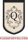 """Monogram """"Q"""" Garden Flag - 2 left"""
