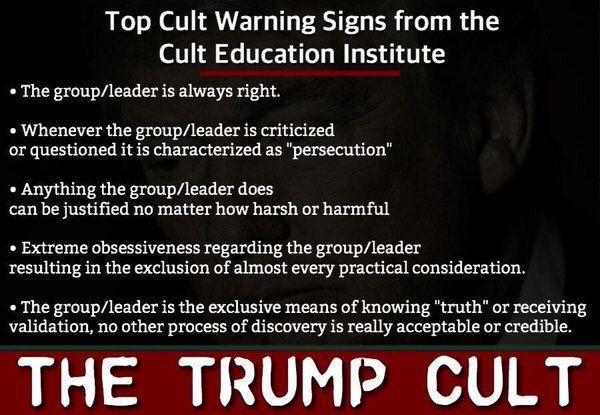 Donald Trump's Cult of Personality.