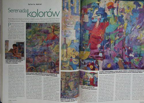 Beata Wąsowska malarstwo, tekst Janusz Miliszkiewicz, Twój Styl 1997