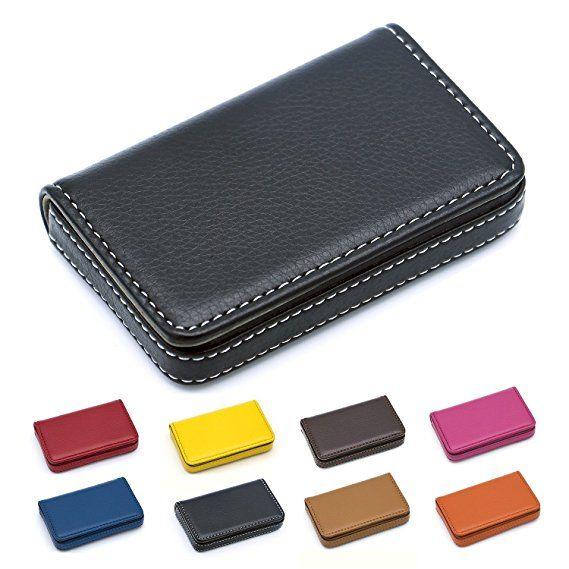 Padike Business Name Card Holder Luxury Pu Leather Business Name Card Holder Wa Leather Business Cards Leather Business Card Holder Business Card Holder Wallet