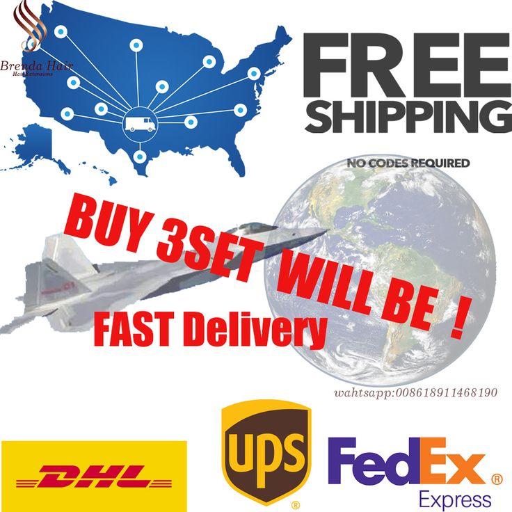 Vergini brasiliani Dell'onda Del Corpo Dei Capelli Tassa di Trasporto DHL UPS FEDEX a USA/Europea